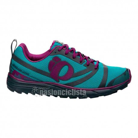 zapatillas pearl izumi run em trail n2 verde mujer
