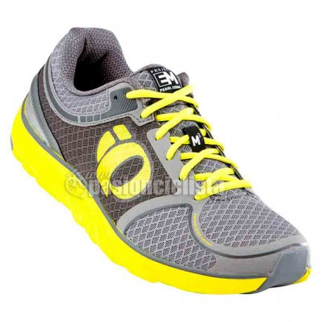 Zapatillas Pearl Izumi Run EM Road M3 gris amarillo