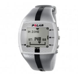 Pulsómetro Polar FT4, con frecuencia cardiaca gris gris
