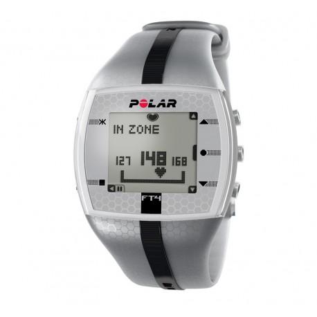 Pulsómetro Polar FT4, con frecuencia cardíaca gris