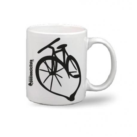 "Taza ""bici corazón"""