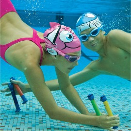 Gorro de natación para niños Gorro-tiburón