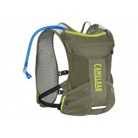 CAMEL BACK CHASE BIKE VEST BURNT OLIVE/LIME PUN
