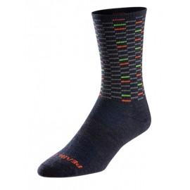 Merino Tall Sock Navy Dash